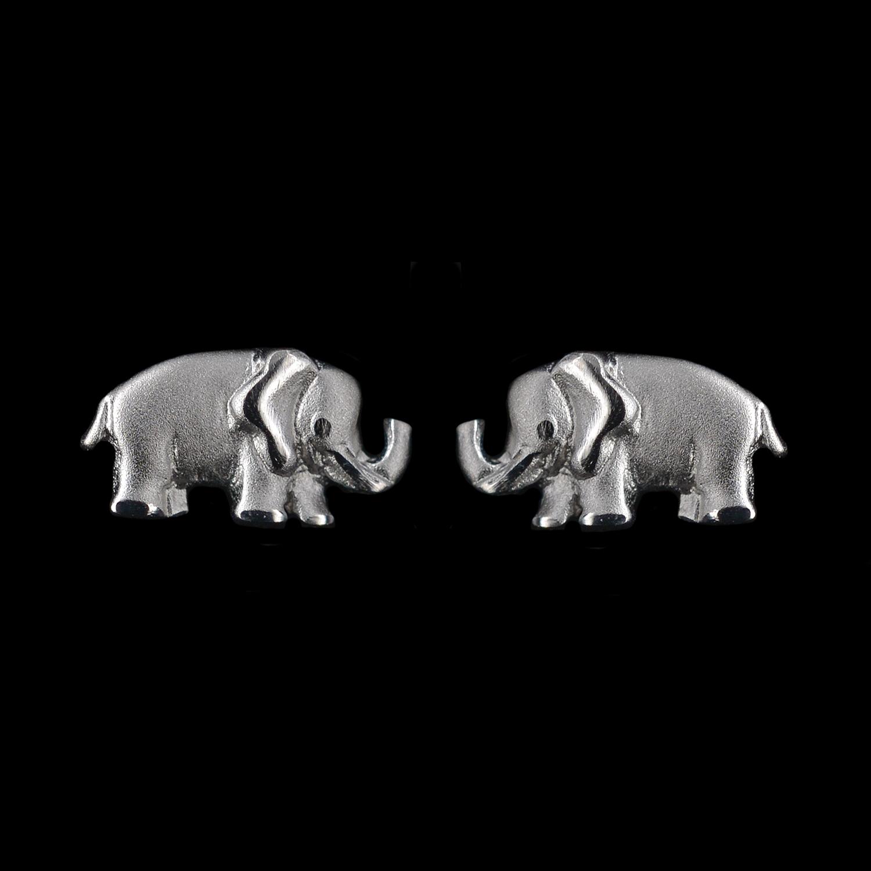 925er Sterlingsilber, Ohrstecker Elefant rhodiniert