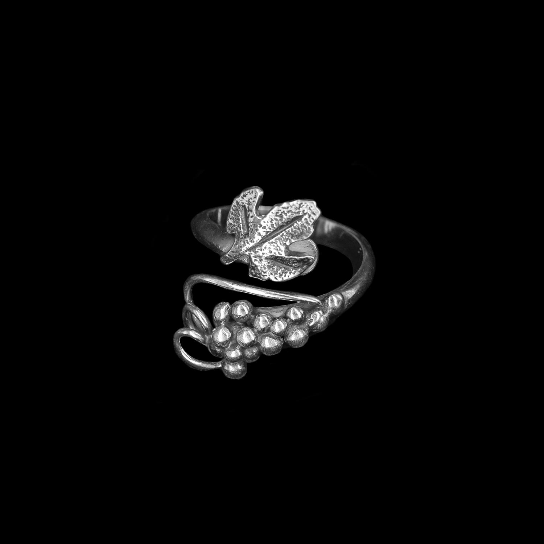 925er Sterlingsilber Ring Weintraube Größe 52