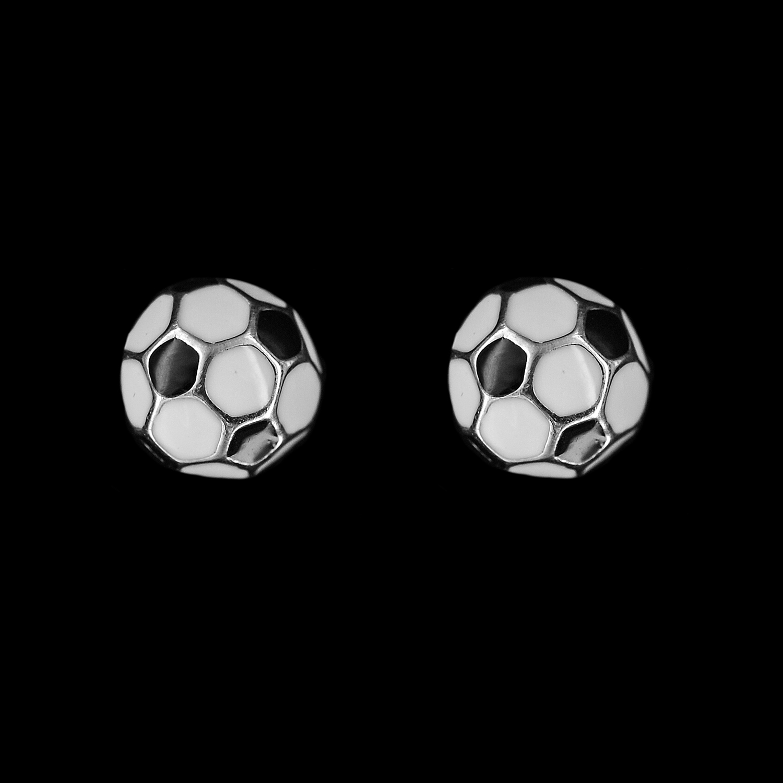 925er Sterlingsilber, Ohrstecker Fußball