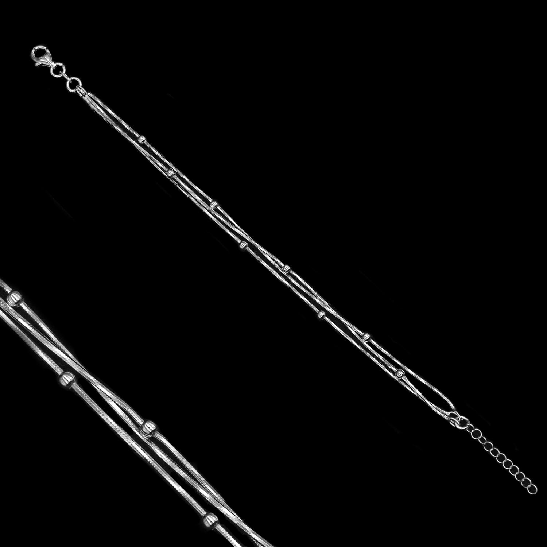 925er Sterlingsilber, Armband rhodiniert