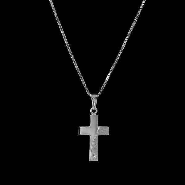 Kettenanhänger Kreuz 925erSterlingsilber-Mahlschatz