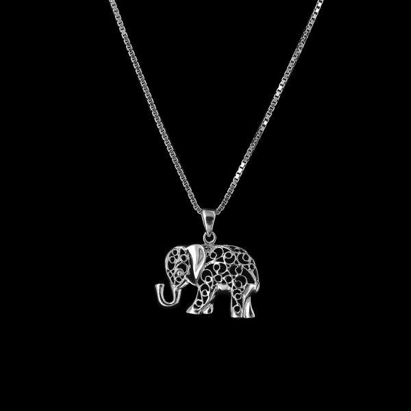 Kettenanhänger Elefant 925erSterlingsilber-Mahlschatz