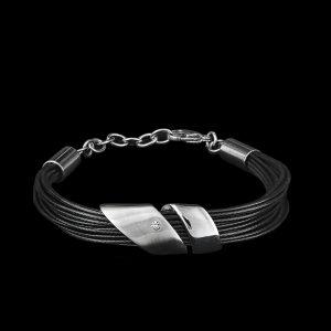Modeschmuck Armband mehrreihiges Textilband